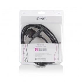 Ewent EW9180 3m CEE7/7 Schuko C5 stekker Zwart electriciteitssnoer