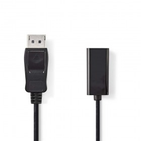 Nedis CCGP37150BK02 DisplayPort - HDMI adapterkabel 0.2m