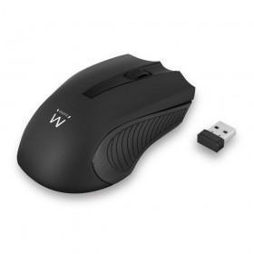 Ewent EW3221 RF draadloos + USB Optisch 1200DPI Ambidextrous Zwart muis