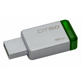 Kingston Technology DataTraveler 50 16GB 16GB USB 3.0 (3.1 Gen 1) Type-A Groen, Zilver USB flash drive