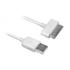 Ewent EW9903 1.5m USB A Apple 30-p Wit USB-kabel