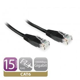 Ewent EW9531 2m Cat6 U/UTP (UTP) Zwart netwerkkabel
