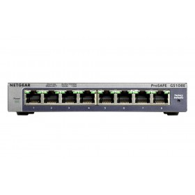 Netgear ProSAFE Unmanaged Plus Switch - GS108E - 8 Gigabit Ethernet poorten