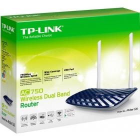 TP-LINK AC750 (2.4 GHz / 5 GHz) draadloze router 100 Mbit/s