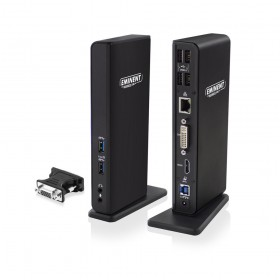 Eminent EM1500 USB 3.0 (3.1 Gen 1) Type-A Zwart notebook dock & poortreplicator