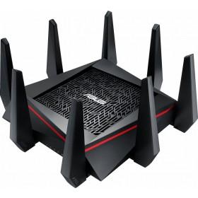ASUS RT-AC5300 Tri-band (2.4 GHz / 5 GHz / 5 GHz) Gigabit Ethernet Zwart, Rood draadloze router