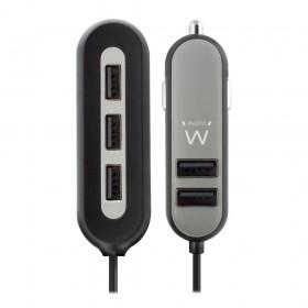 Ewent EW1355 Auto Zwart, Grijs oplader voor mobiele apparatuur