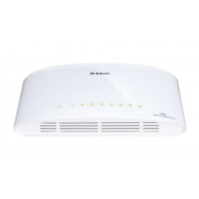 D-Link DGS-1008D/E Unmanaged Wit netwerk-switch