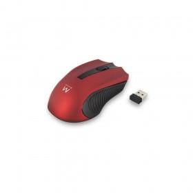 Ewent EW3227 RF Draadloos Optisch 1000DPI Ambidextrous Zwart, Rood muis