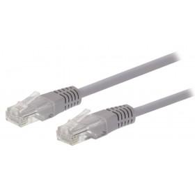 Ewent 1.0m Cat6 UTP 1m Cat6 U/UTP (UTP) Grijs netwerkkabel