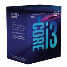 Intel Core i3-8100 3.6GHz 6MB Smart Cache Box processor
